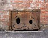 Graffiti Mustache Face, funny, odd, Boise, photograph