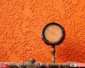 Orange Wall, Gauge, Bright, Bold, Vibrant, Industry