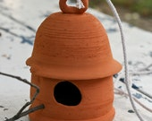 Bird House made of native local clay and unglazed