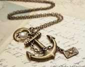 FREE SHIPPING - Sail to the Moon - Dreamer's Necklace