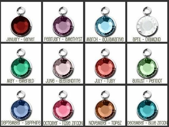 ADD A Birthstone Swarovski Crystal or Rivet Birthstones Crystals