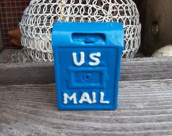 Cast Iron Mail Box Coin Bank