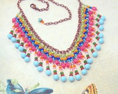 Colorful Mexican Bib Necklace