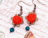 Frida Rose Earrings
