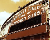 Vintage Wrigley // 8x10 Chicago Cubs Photography // Baseball Print