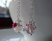 Mixed Pink Mini Cluster Earrings