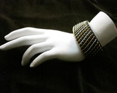 Stretchy Mixed Metal Chainmaille Cuff Bracelet