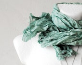 FREE SHIP  Mint Green Wrinkled Scarf Fall Autumn Winter