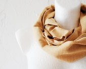 August SALE Yellow Ochre Loop Circle Scarf infinity cotton