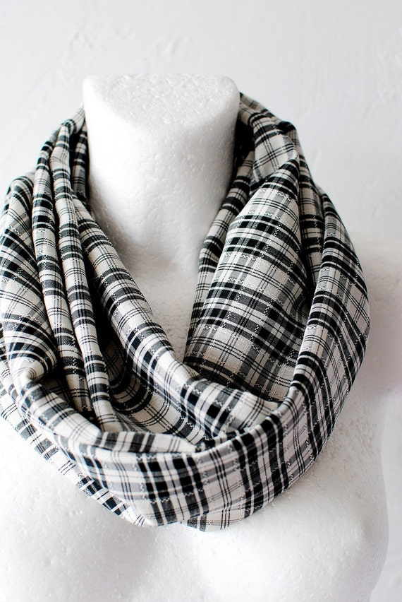 CLEARANCE Plaid Classic Loop Circle Scarf infinity