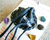Grounding/Protection pocket-size Crystal Medicine Bag