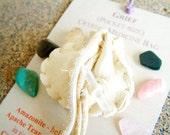Grief pocket-size Crystal Medicine Bag