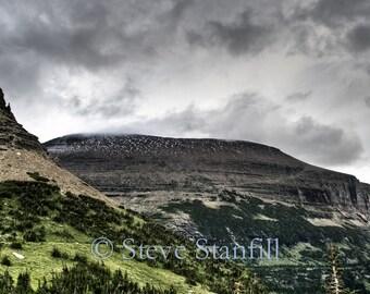 Stunning mountain scenes around Logan Pass, Montana