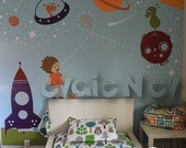 Outer Space Wall Stickers - Boys Wall Stickers, Kids Wall Stickers and Planets Wall Stickers- PLOS010R