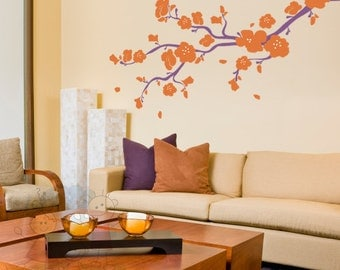 Wall Decals - Elegant Cherry Blossoms Branch - BRCB010L