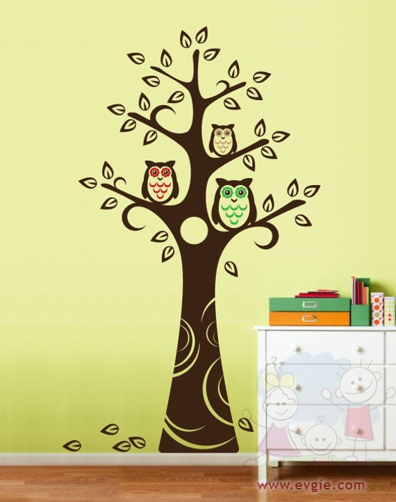 Tree Wall Decal Wall Sticker Tree Decal Owls And Tree