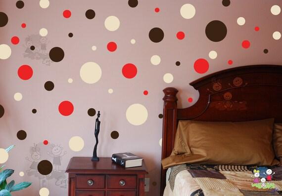 Polka Dots - Vinyl Art Wall Decal - Living Room, Hallway, Decor, Interior