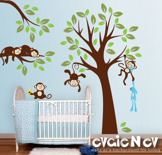 monkeys wall stickers monkey stickers and baby monkey