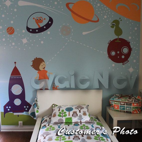 Exceptional Outer Space Wall Decals, Boys Wall Decals, Space Wall Stickers, Children  Wall Decals, Kids Wall Decals, Planets Wall Decals   PLOS010R Part 26