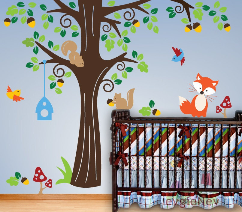 Animals In The Woods Wall Stickers Removable Wall Vinyl - Vinyl wall decals animals