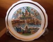 Vintage Shop Maryland Collector Plate 1950