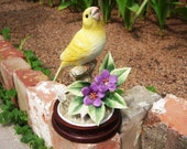 Vintage Shop New Orleans Rare Yellow Porcelain Canary by Andrea Wedding Gift