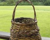 Vintage Wicker Country Flower Basket