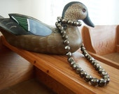 """On Sale Vintage Brown 24"""" Metallic Necklace Now Celebrating Five Years On Etsy"""