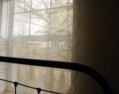 Vintage Woodland Lace Curtain