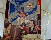 In A Little Gypsy Tea Room/ Sheet Music/ Piano/ Guitar 1935 Colors Vary By Monitor