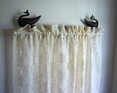 Vintage Cream Lace Curtain  Panel (1)