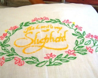 "On Sale Vintage Hand Embroidered Cases ""Lord Is My Shepherd"""