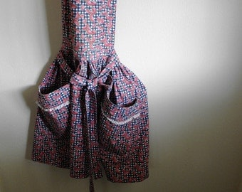 Vintage Handmade Watermelon Print Apron Home Cook Made From Scratch Retro Kitchen
