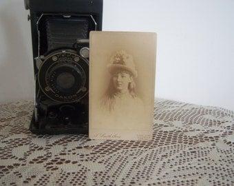 On Sale Antique Pretty Girl Carte Sepia Photograph  Online Vintage, vintage clothing, home accents, vintage dress