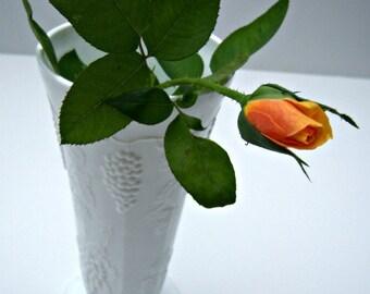 On Sale Vintage White Milk Glass Vase Grape Pattern  Online Vintage,  home accents, vintage