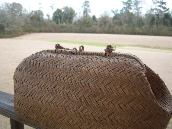 Vintage Cane Basket Purse Home Decor Antique Shreveport Louisiana