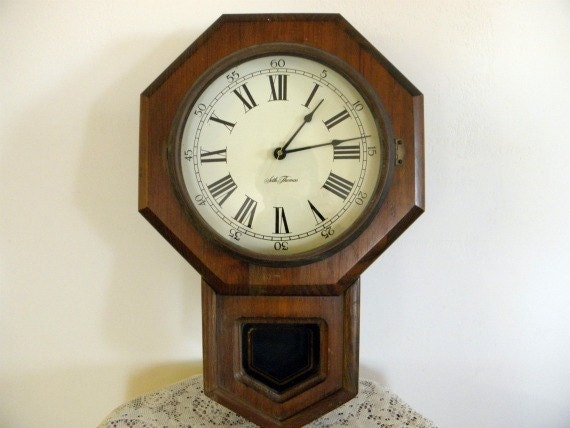 Vintage Seth Thomas School House Clock Home Decor Watchmaker 28.95