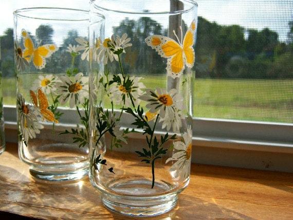 Vintage Medium Libbey Water/Drinking Glasses (4)