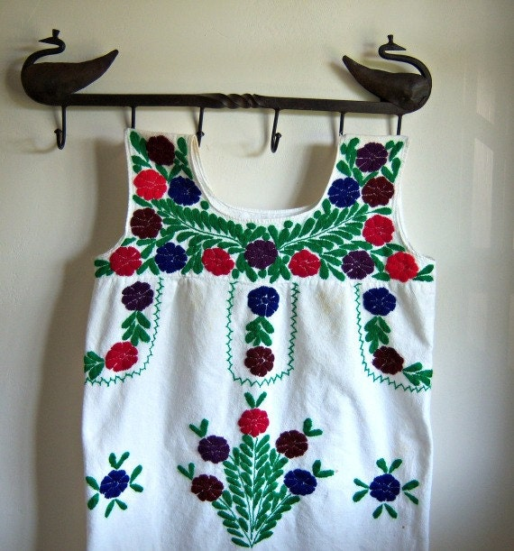 Vintage Native Embroidered Dress
