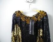 sparkle sequin blouse size m