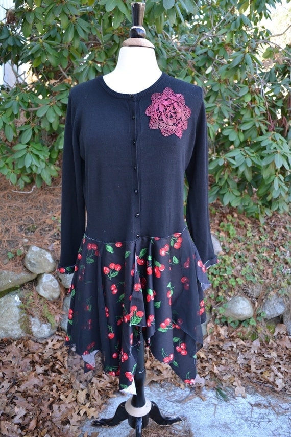 Large / Black Cherry Top/ Dress