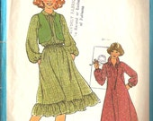 Simplicity 8703 Vintage 1978 Teen Pullover Dress and Vest Pattern