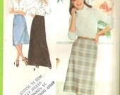 Simplicity 9070 Vintage 1979 Skirt Pattern size 10