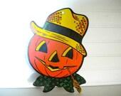 Vintage Pumpkin Scarecrow Halloween Decoration  Halloween Home Decor