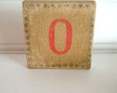 Wooden Brooch Repurposed Letter O One of A Kind