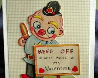 Valentine Card Vintage Repurposed One of A Kind