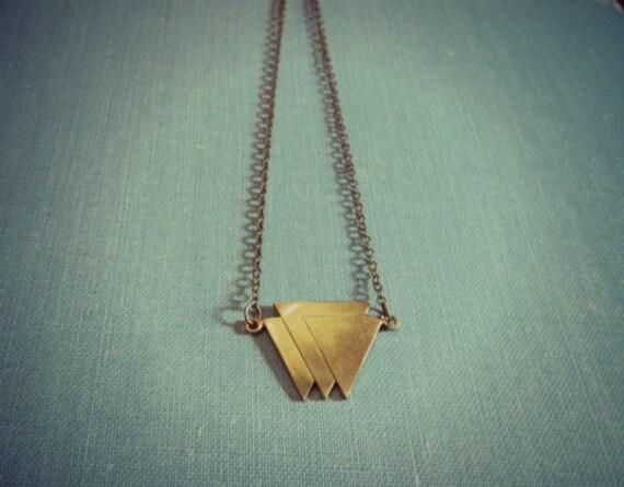 Triangle Necklace Geometric
