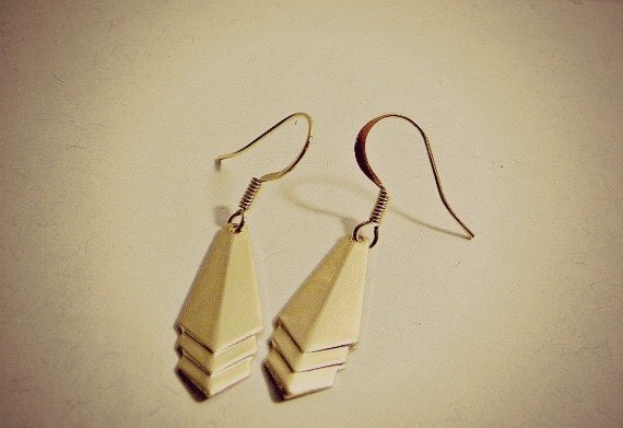 Chevron Earrings Geometric Bridal Party Bridesmaid