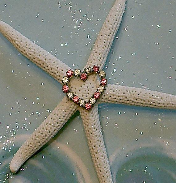 Jeweled Starfish - Beach Wedding Table Decor - Inspirational Gift