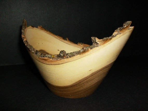 Natural Edge Hackberry Wood Bowl - (188)